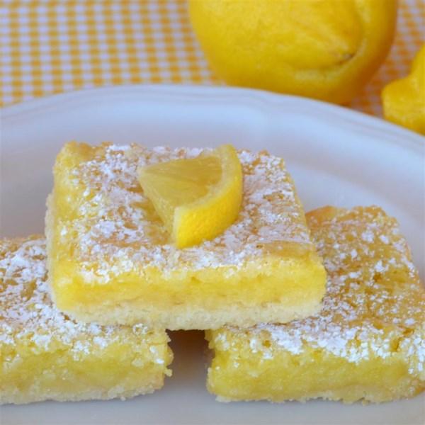 A melhor receita de barras de limão