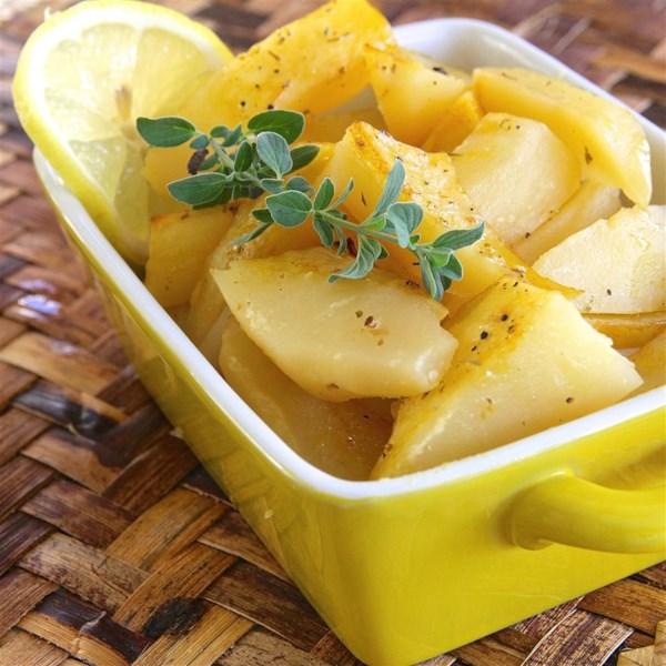 Receita de Batatas Assadas de Limão No Estilo Grego