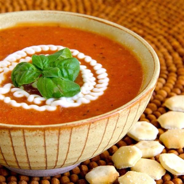 Receita de Sopa cremosa de tomate (sem creme)