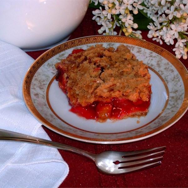 Receita de Rhubarb Cherry Crisp