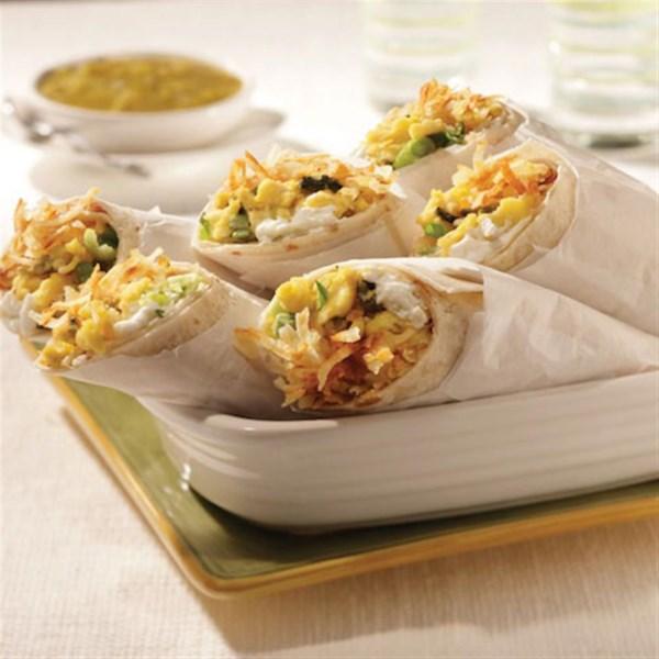 Receita de Burritos de Café da Manhã Marrom de Haxixe