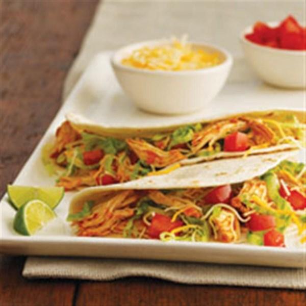 Receita de Tacos de Frango de Panela Lenta