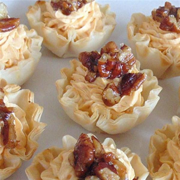 Tortas de Queijo de Abóbora com Nozes e Receita de Sal do Mar de Canela