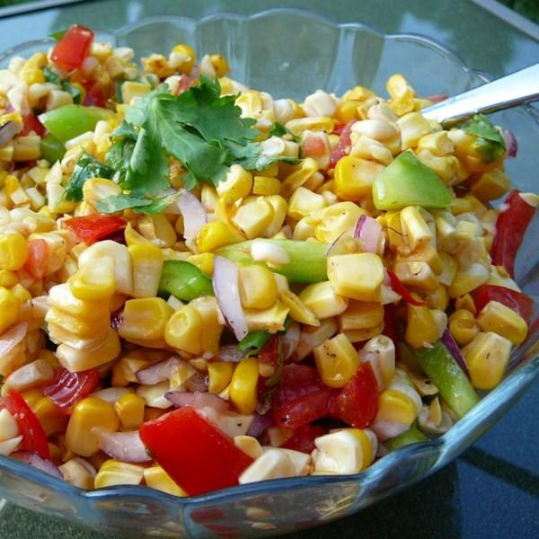 Receita de Salada de Milho Grelhado
