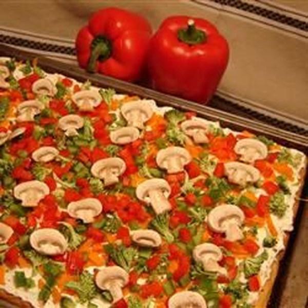 Receita de Pizza Vegetariana Legal