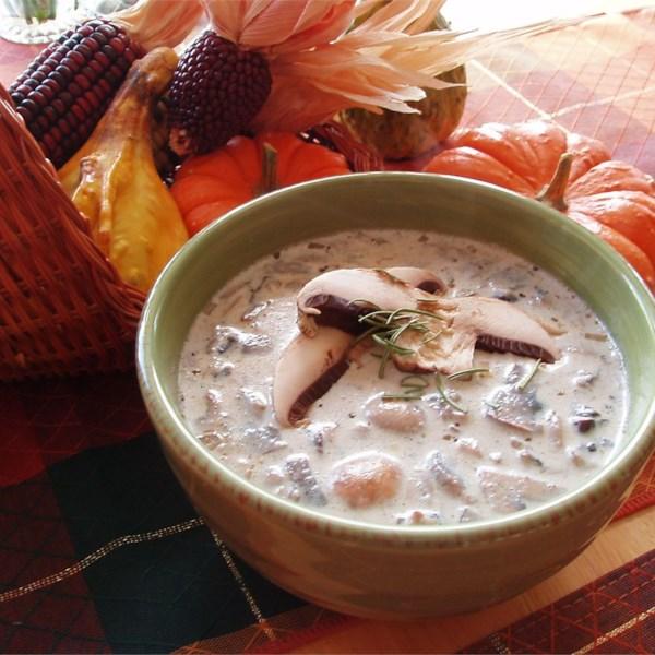Receita de Sopa de Cogumelo Cremoso