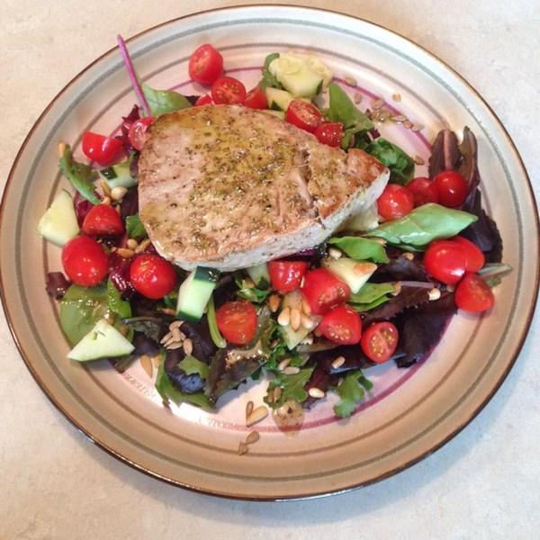 Receita de Salada de Atum Grelhado