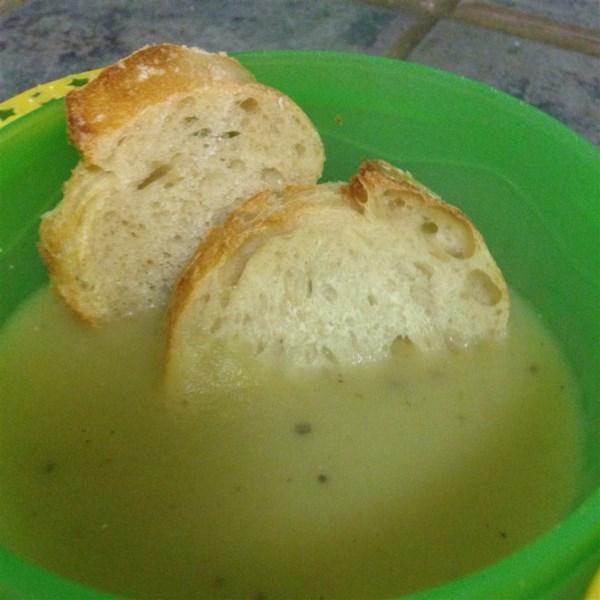 Receita de Sopa de Alho-poró de Batata