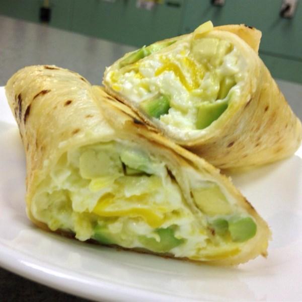 Receita de Abacate, Cream Cheese e Burrito de Ovo