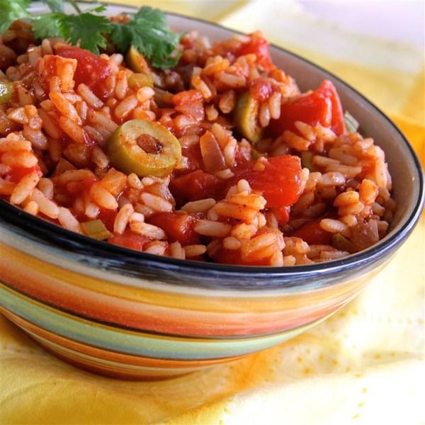 Receita rápida de arroz espanhol