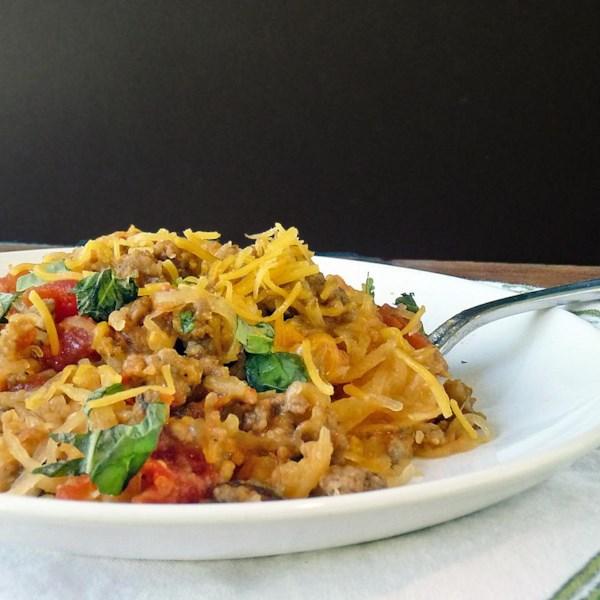 Receita de Espaguete Assado com Carne bovina e legumes