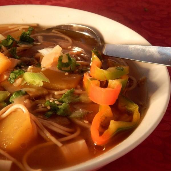 Receita de Sopa de Miso de Abóbora e Tofu