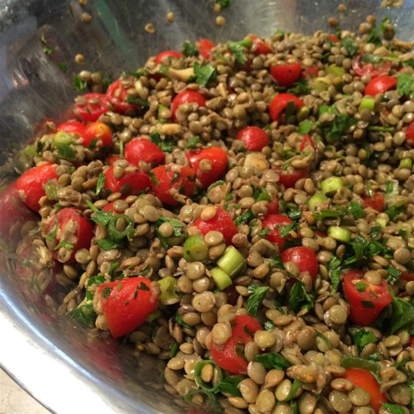 Receita de Salada de Lentilha Fria