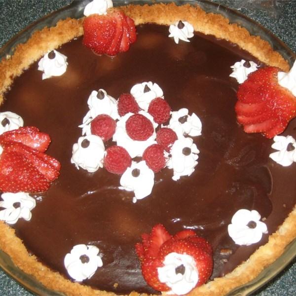 Receita de Torta de Trufa de Chocolate Crosta de Nozes