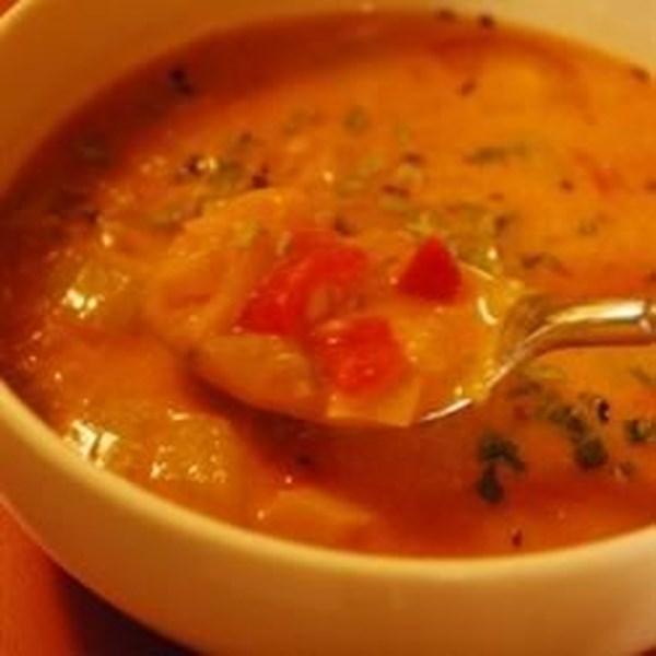 Receita de Sopa de Tomate Cremoso e Creme de Queijo