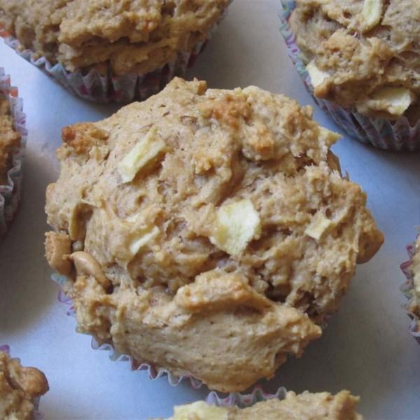 Receita de Muffins de Maçã de Manteiga de Amendoim Gostoso