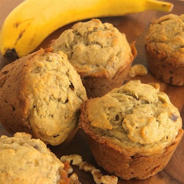 Receita de Muffins de Aveia de Banana