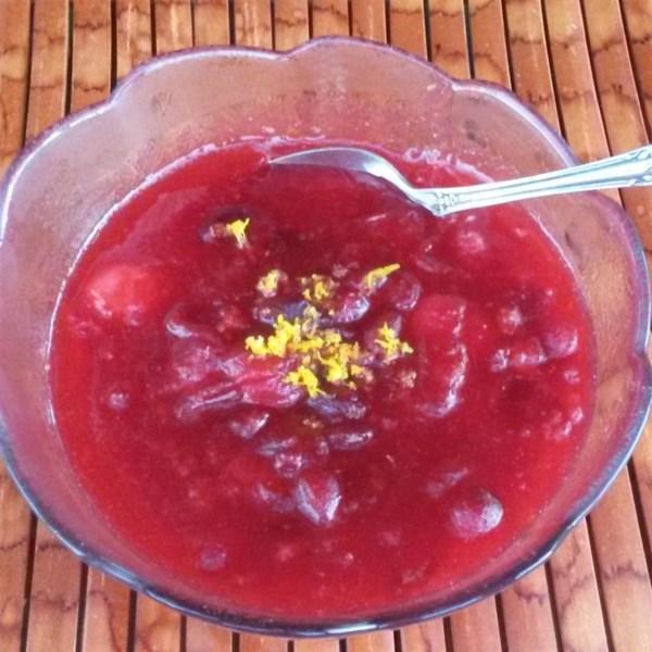 Receita de Molho de Cranberry Bêbado