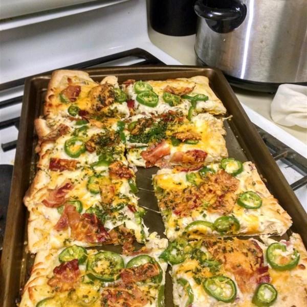 Receita de Pizza Jalapeno Popper de Jan