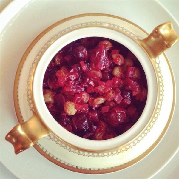 Receita de Cranberry, Maçã e Chutney de Gengibre Fresco