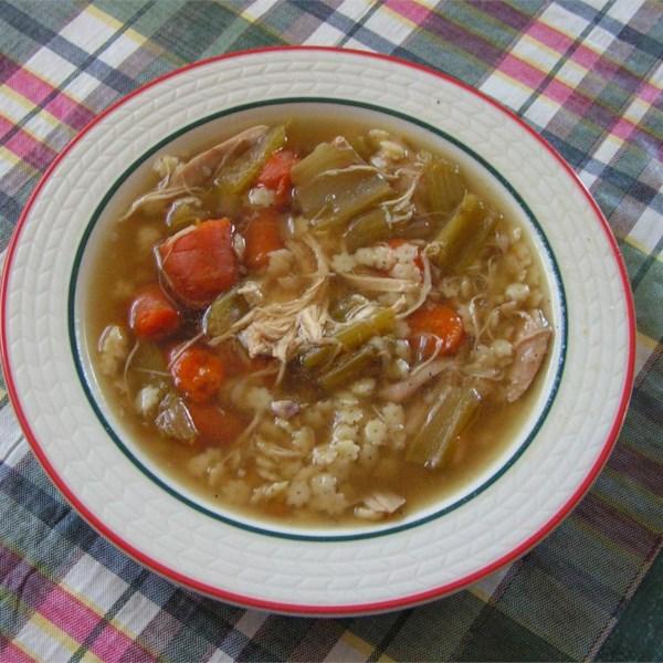 Receita caseira de sopa de frango