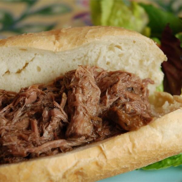 Receita de Carne Italiana de Panela Lenta para Sanduíches