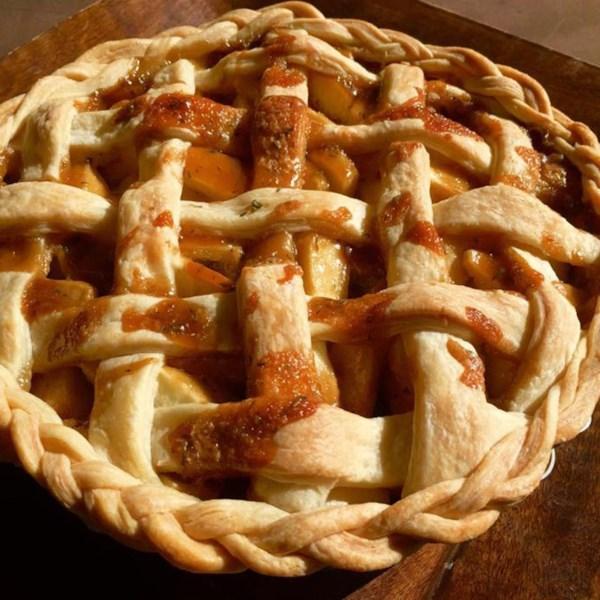 Receita de Torta de Maçã de Alecrim-Tomilho