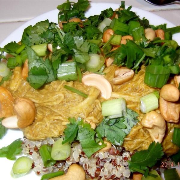 Receita de tigela de frango estilo tailandês doce
