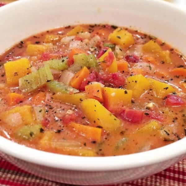 Receita de Abóbora de Manteiga Volumosa e Sopa de Tomate
