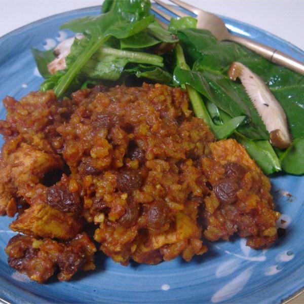 Receita de Caçarola de Frango Com Curry e Arroz Integral
