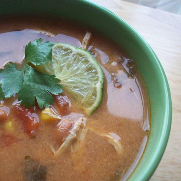 Receita de Sopa de Tortilla de Frango de Panela Lenta