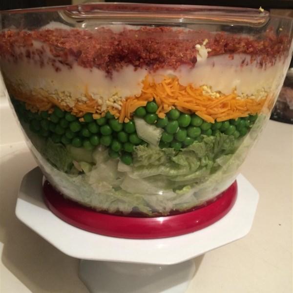Receita de Salada de 7 Camadas
