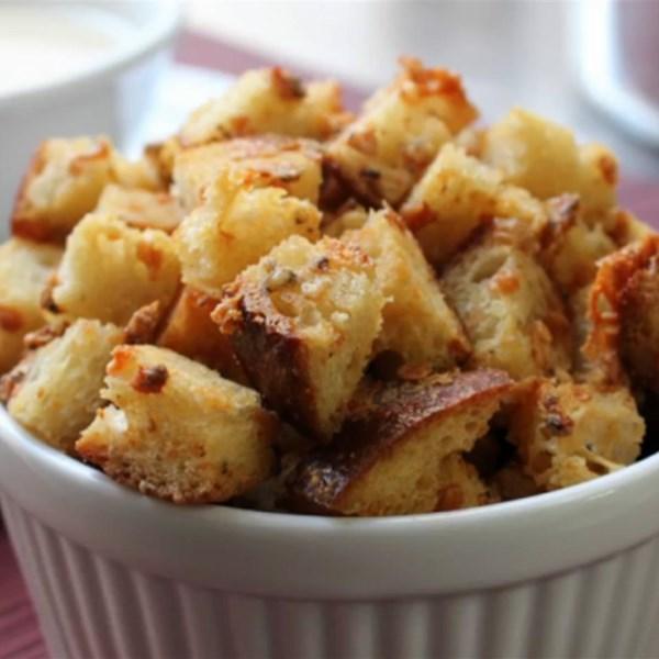 Receita Bluetons (Blue Cheese Croutons)