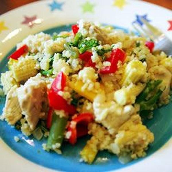 Salada de Frango com Receita de Cuscuz