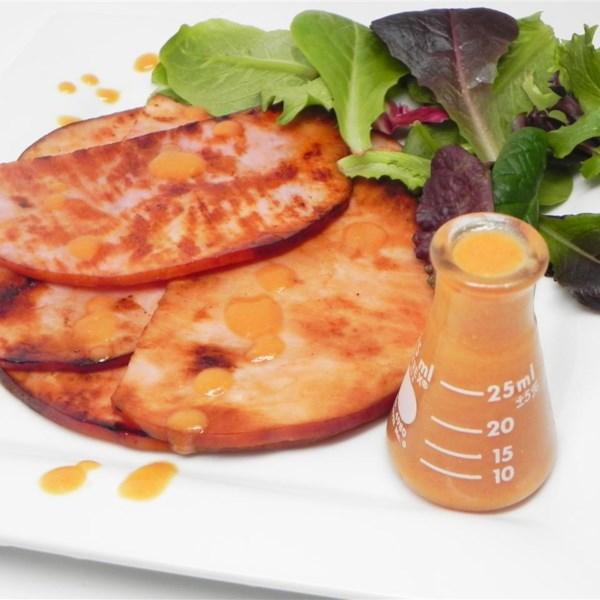 Molho de mostarda tangy para receita de presunto