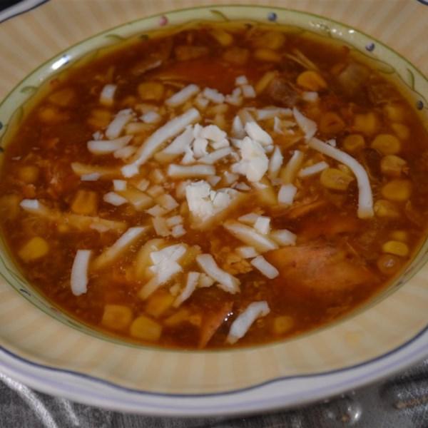 Receita de Sopa de Pizza de Frango de Churrasco de Panela Lenta