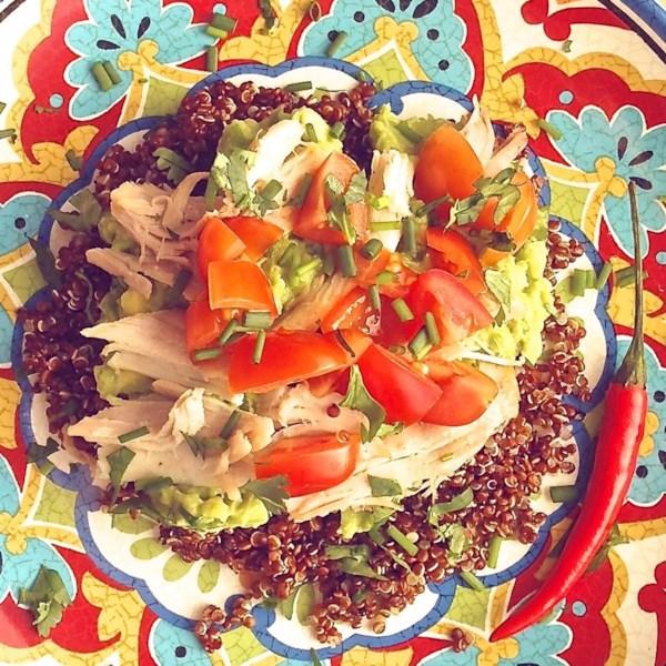 Receita de Salada de Abacate de Frango Frio