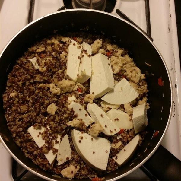Quinoa com Receita de Peru Moído