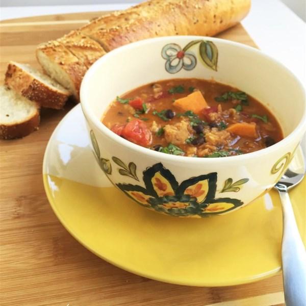 Receita de Lentilha, Linguiça de Frango e Sopa de Batata Doce
