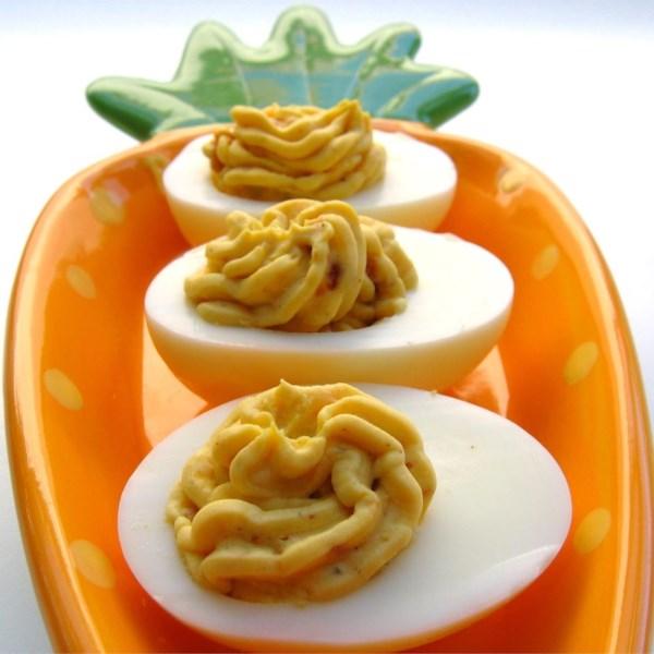Receita de Ovos Demoníacos de Bacon Cheddar
