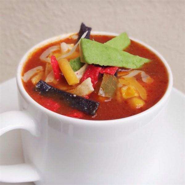 Receita de Sopa de Tortilla Vegetariana