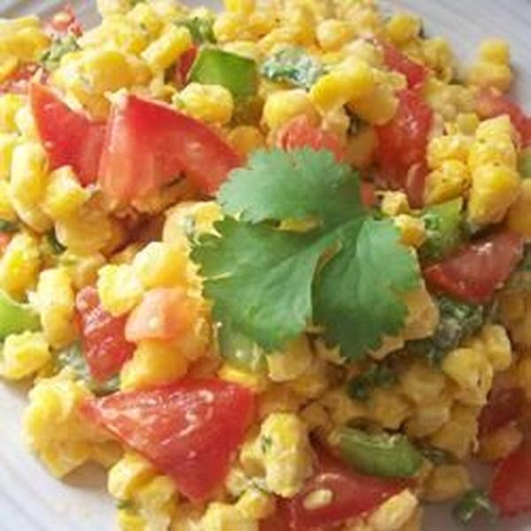 Receita de Salada de Milho de Tomate de Coentro