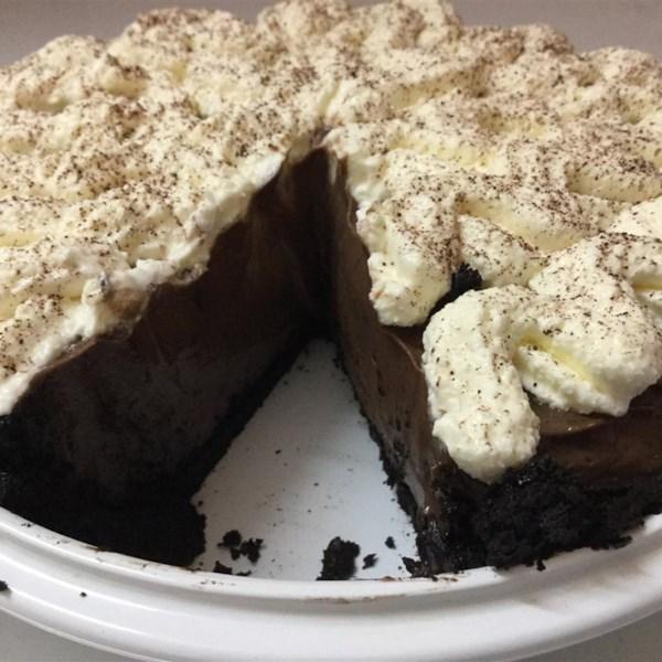 Receita de crosta de biscoito de chocolate falsa