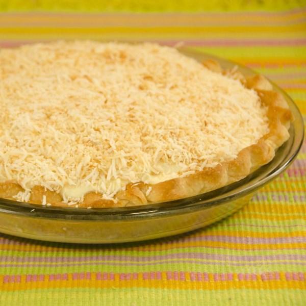 Receita de Torta de Creme de Coco Torrado