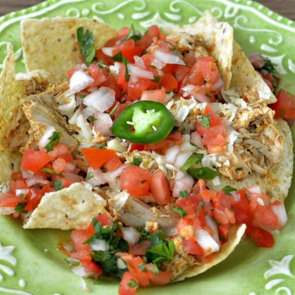 Receita de Nachos de Frango Enchilada