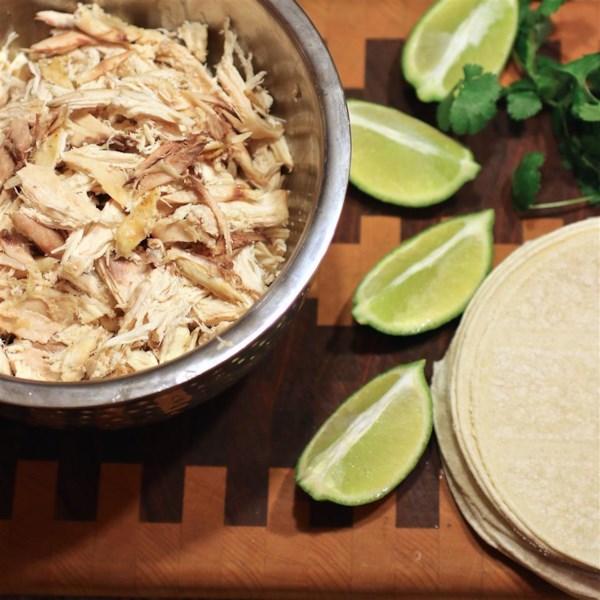 Receita de Tacos de Frango de Coentro-Limão De Panela Lenta