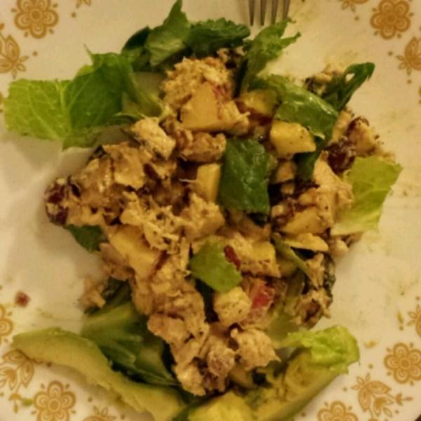Receita de Salada de Frango Com Curry Frutado