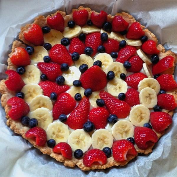 Receita de Torta de Morango Kiwi de Banana