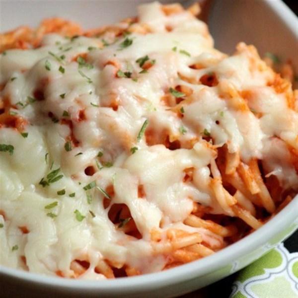 Receita cremosa de espaguete assado