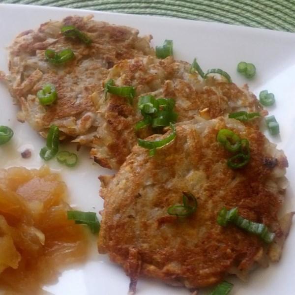 Receita bramboracky (panquecas de batata salgadas tchecas)